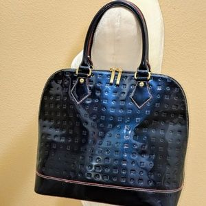 Arcadia Signature Patent Leather Ocean Large HandB